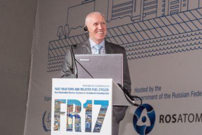 Выступление Е.О. Адамова в рамках Международной конференции по реакторам на быстрых нейтронах и соответствующим топливным циклам (FR-17)