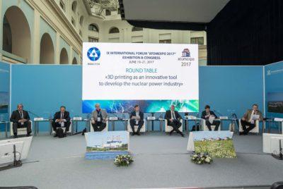 Развитие аддитивных технологий обсудили международные эксперты на круглом столе Атомэкспо-2017