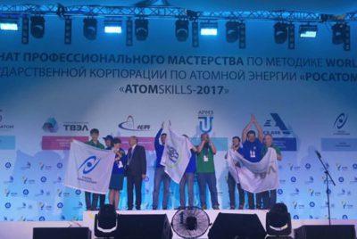 Сотрудники АО «НИИграфит» заняли 1 и 2 места в номинации «Технологии композитов» на AtomSkills-2017
